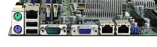 Supermicro X9SCL-F Rear IO