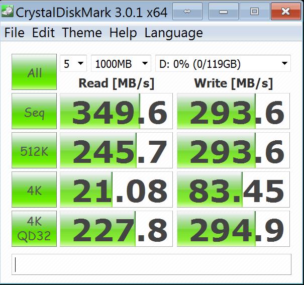 OCZ Agility 4 128GB - CrystalDiskMark