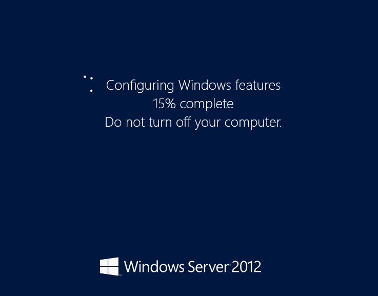 Windows Server 2012 - Turn on GUI - Configuring Features