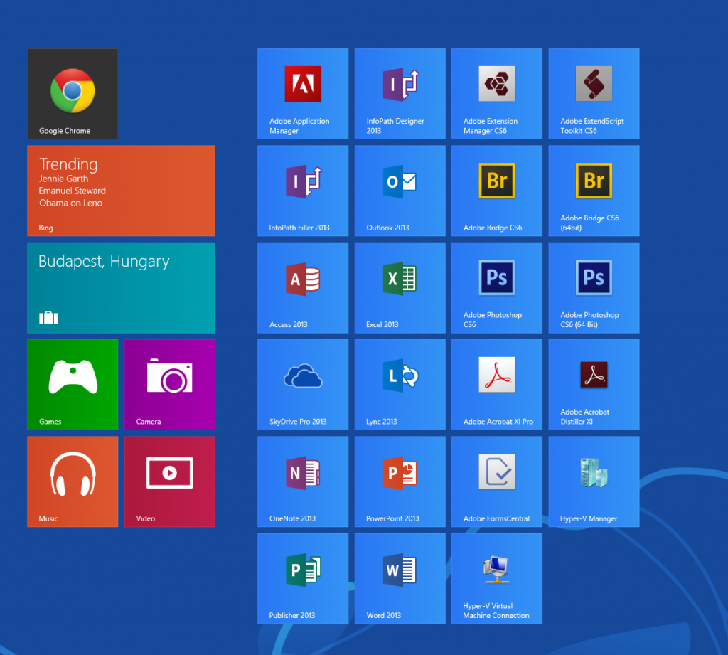 Install Hyper-V on Windows 8 - Reboot and Hyper-V Will be on Start Menu