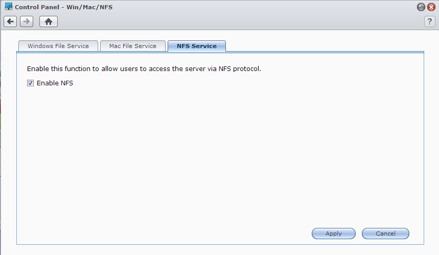 Synology Enable NFS