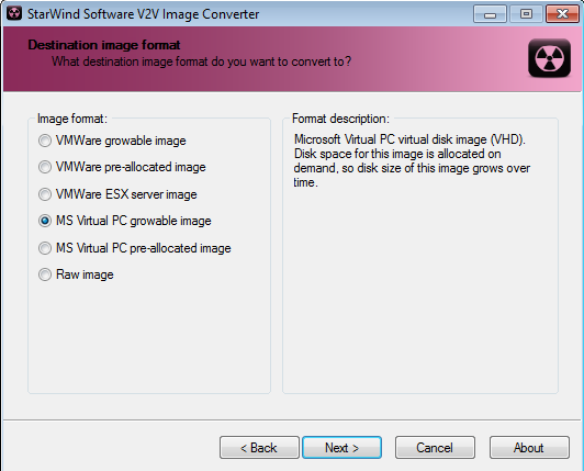 Cloudera CDH4 Hadoop in Windows 8 Hyper-V VDMK to VHD Conversion Format