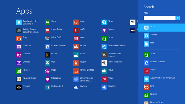 Microsoft Windows 8 RT Metro Apps - Microsoft Surface RT