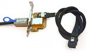PCI SAS Adapter Bracket plus SFF-8087 Cable
