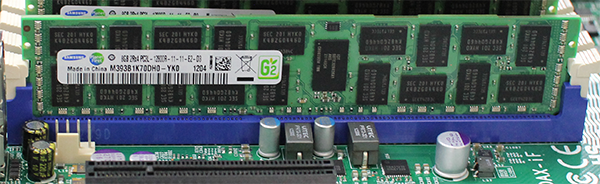 Supermicro Hyper-Speed 6027AX-TRF 8GB Samsung DDR3 DIMMs