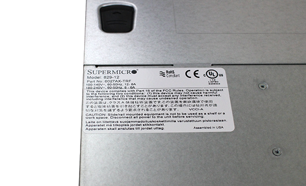 Supermicro Hyper-Speed 6027AX-TRF ID Badge