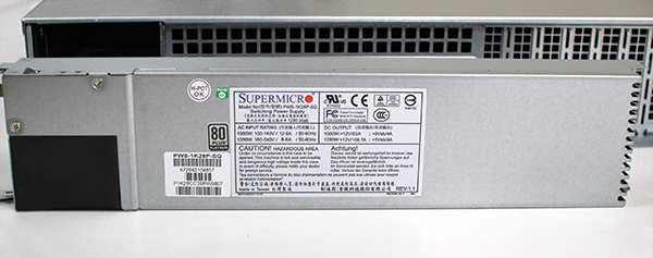 Supermicro Hyper-Speed 6027AX-TRF Platinum PSU