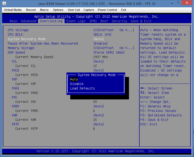 Supermicro Hyper-Speed Overclocking BIOS Recovery Mode