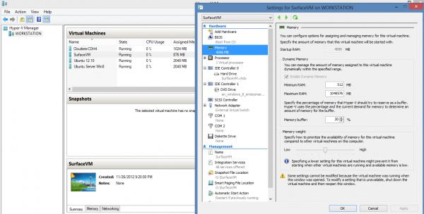 Microsoft Hyper-V SurfaceVM Configuration