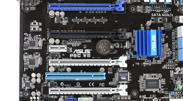 ASUS P8C WS Expansion Slots