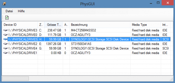 Copy pfsense image to hard drive - PhysGUI select the correct drive