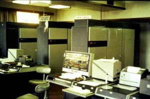 Cabinets of computing power.