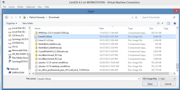 Install CentOS 6.3 on Windows 8 Hyper-V – Install Integration Services