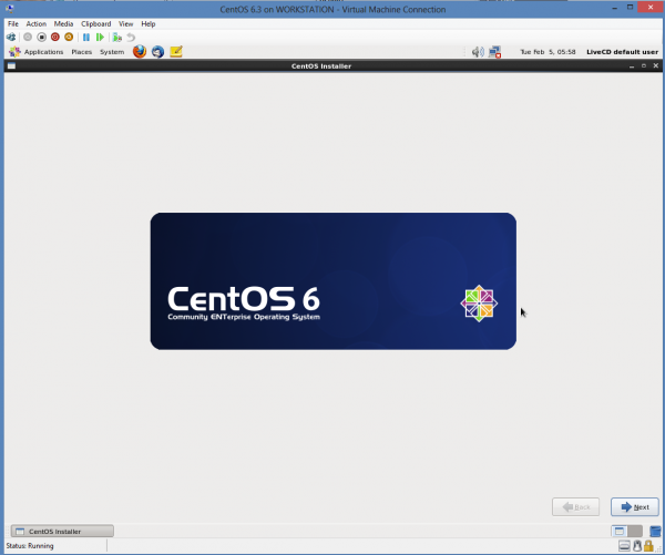 Install CentOS 6.3 on Windows 8 Hyper-V – Install Linux