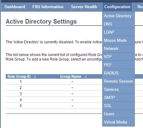 ASUS ASMB6 iKVM Configuration - Menu