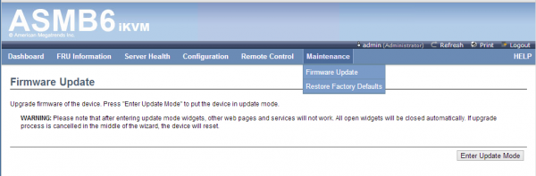 ASUS ASMB6 iKVM Maintenance - Firmware Update