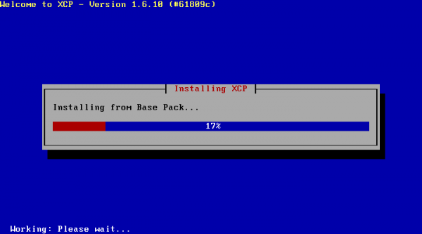 XCP Installation - Wait for the Installer