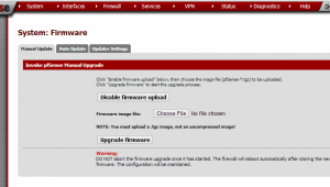 pfsense enable firmware upload