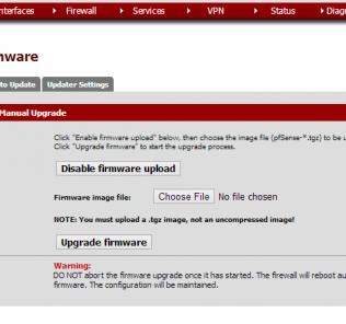 pfsense enable firmware upload