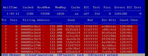 Memtest86+ 4.20 Errors