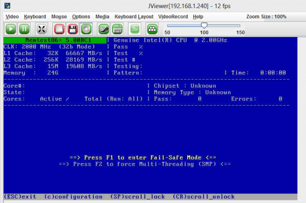 Test Server Memory - Boot From Memtest86 Plus ISO and Select SMP