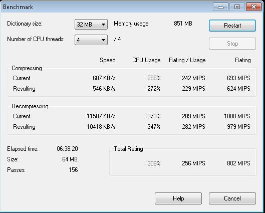 Intel Atom S1260 Centerton 7-Zip Benchmark