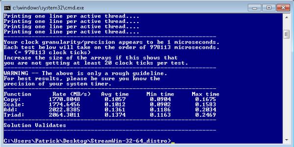 Intel Atom S1260 Centerton STREAM Benchmark