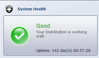 Synology DS1812+ - 141 Days Uptime