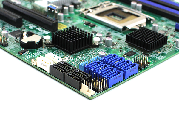 Supermicro X10SL7-F SATA and SAS connectors