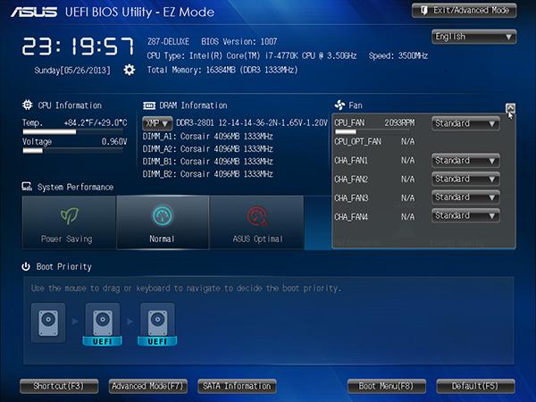 ASUS UEFI BIOS - EZ Mode Fan Controls