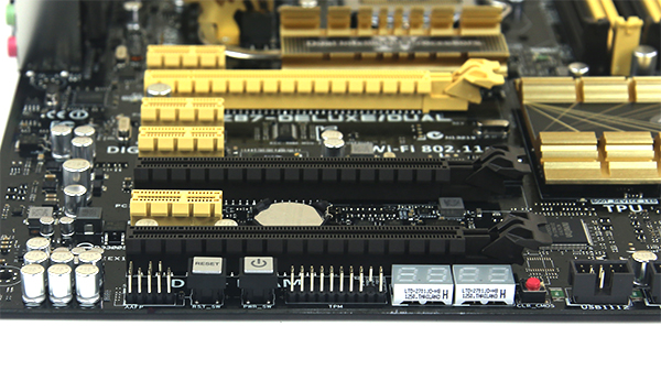 ASUS Z87 Deluxe Dual Diag Power and Reset