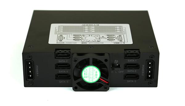 Icy Dock MB996SP-6SB Rear