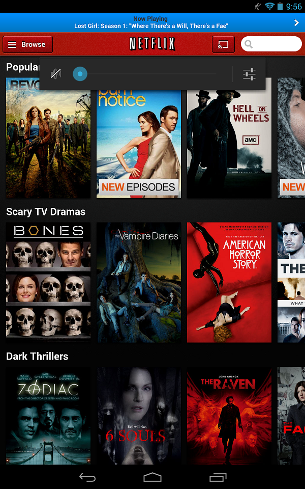 Netflix Android with Google Chromecast