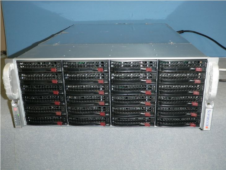 Supermicro 24-bay 4u storage server auction