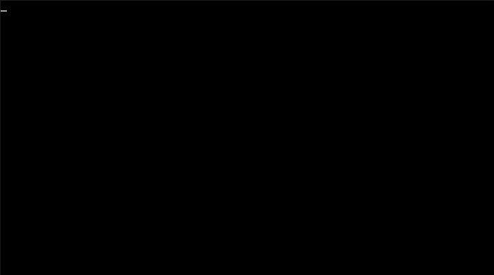 Cursor Blinking Screen