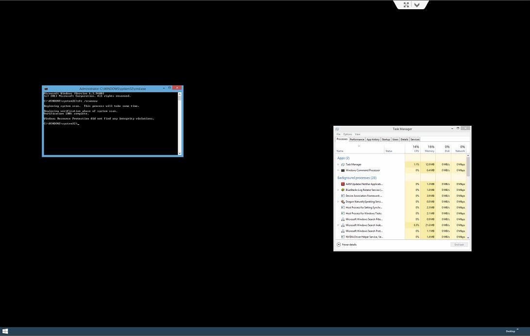 Windows 8 черный экран и курсор что делать