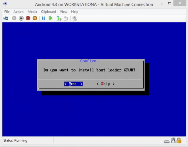 Android-x86 on Hyper-V Install GRUB
