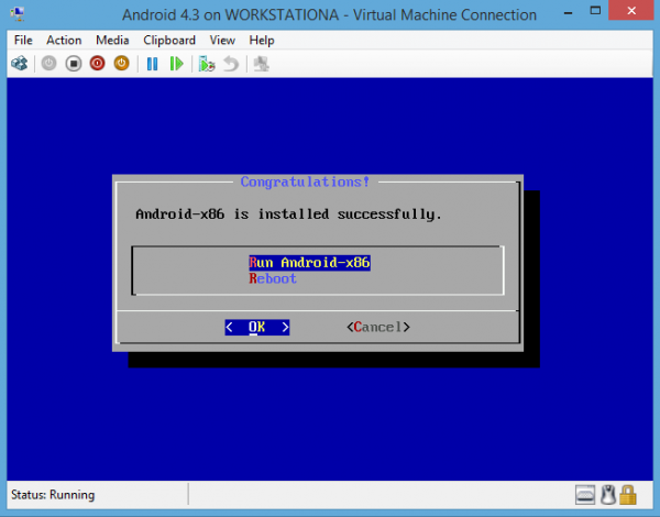 Android-x86 on Hyper-V Run