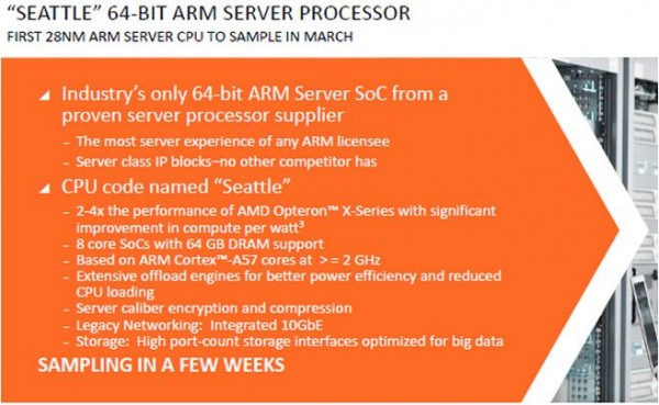 AMD Opteron A1100 Seattle Announcement Overview