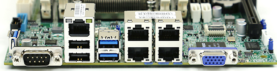 Supermicro A1SAi-2550F Rear IO Panel