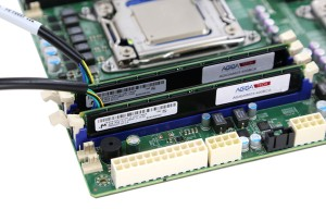 Agigatech NVRAM Module and Cable installed Front Side on Supermicro