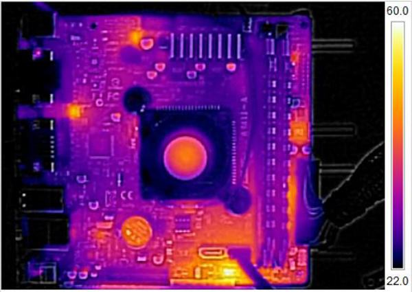 ASUS AM1I-A and AMD Athlon 5350 Thermal Imaging