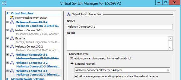 Mellanox ConnectX-3 VPI Change - Update Hyper-V Switches