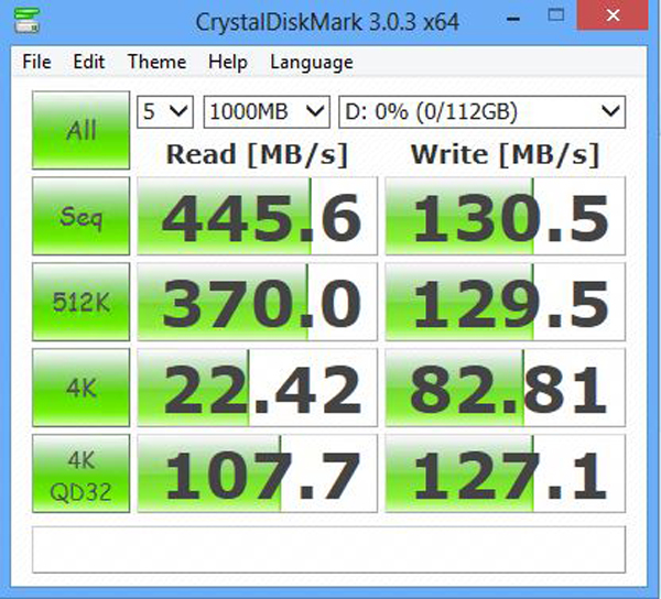 Mushkin Atlas Deluxe 120GB - benchmark - CrystalDiskMark