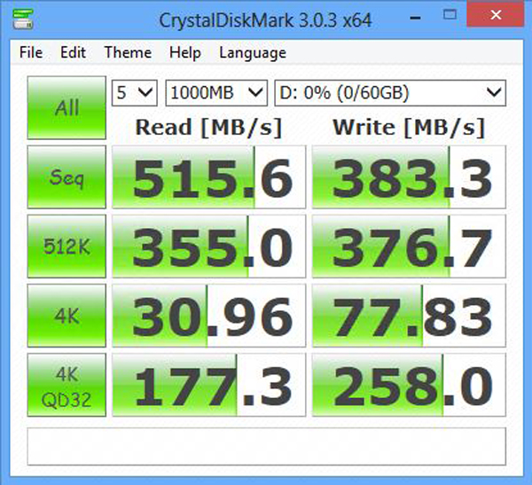 MyDigitalSSD BP4 128GB CrystalDiskMark Benchmark