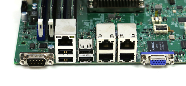 Supermicro A1SAM-2750F Rear IO Ports