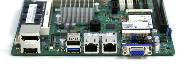 Supermicro X10SBA Rear IO Ports