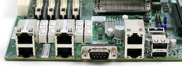 Supermicro X9SKV-1125 Rear IO