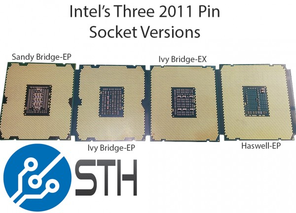 Three Different Intel Xeon LGA 2011 Sockets