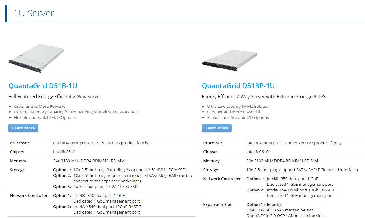 Quanta QCT 1U E5-2600 V3